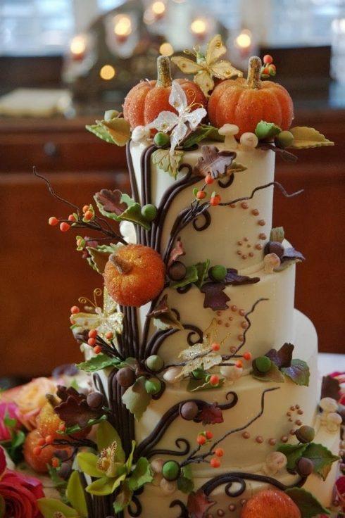 gateau de mariage halloween