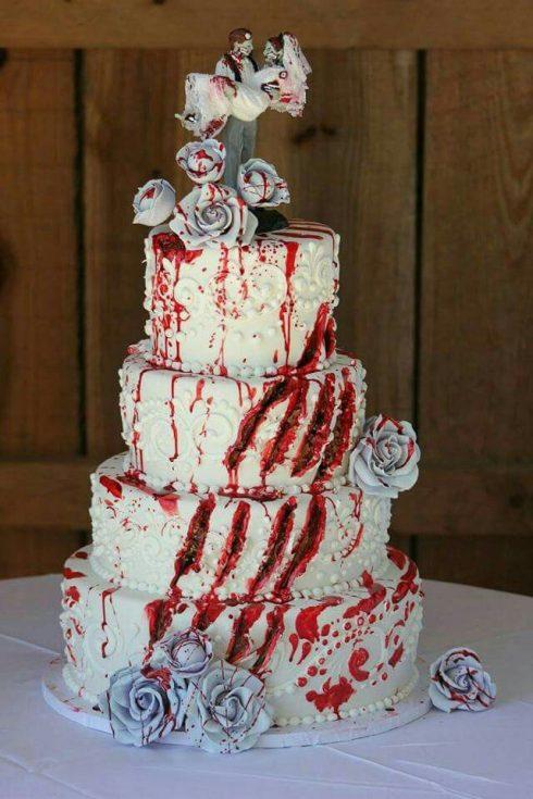 gâteau de mariage thème halloween
