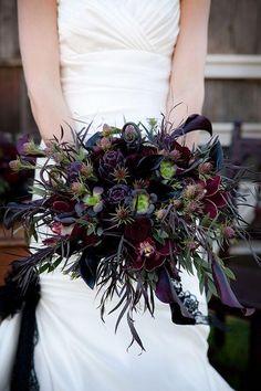 bouquet de mariée inspiration halloween