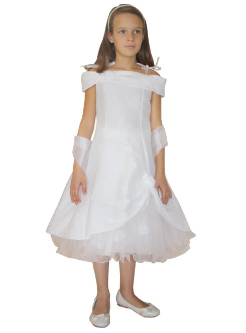 Robe de communion pétale