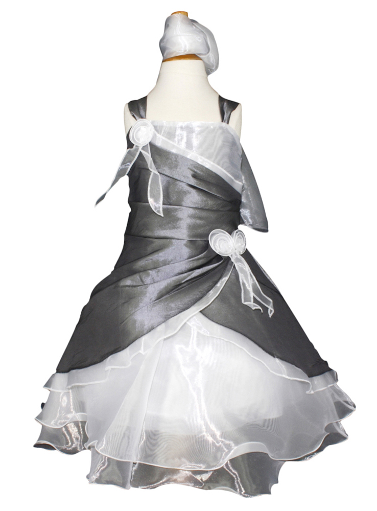 Robe de ceremonie blanc et grise