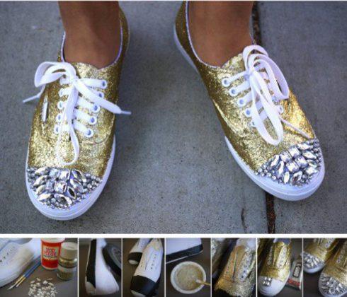Customiser ses chaussures clous pailettes