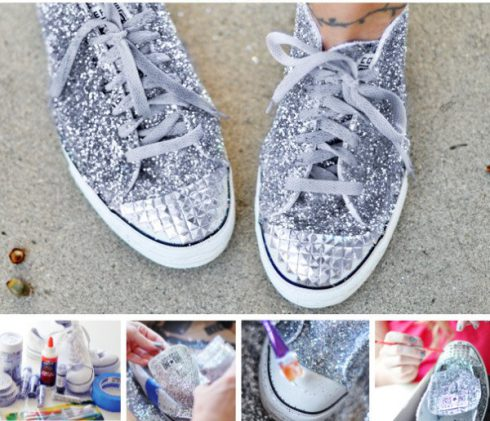 Customiser ses chaussures paillettes clous