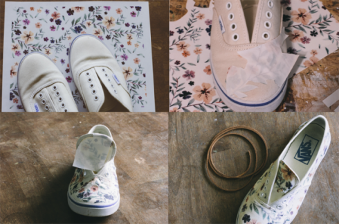 Customiser ses chaussures papier magazine