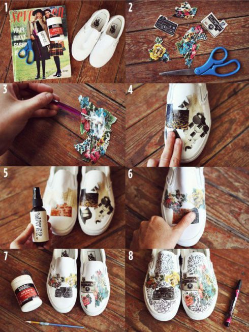 Customiser-ses-chaussures-papier-magazine