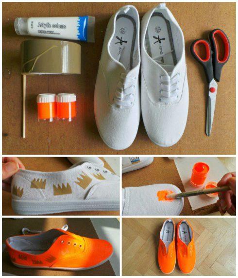 Customiser-ses-chaussures-scotch-peinture