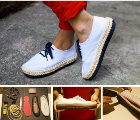 Customiser ses chaussures semelles