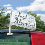 DRAPEAU voiture mariage