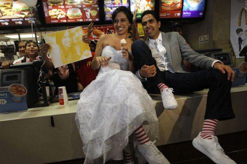 Dans une McDonalds de San Pedro Garza Mexique
