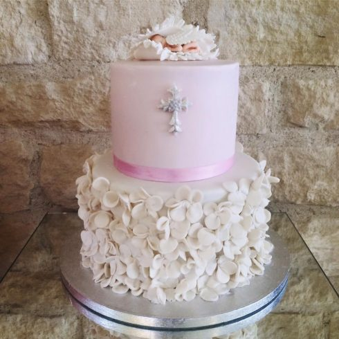 Gâteau de baptême ange