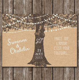 Invitation mariage champêtre