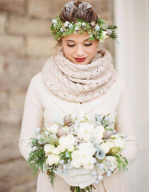 accessoires mariée hiver