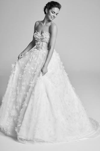 robe de mariée avec détail