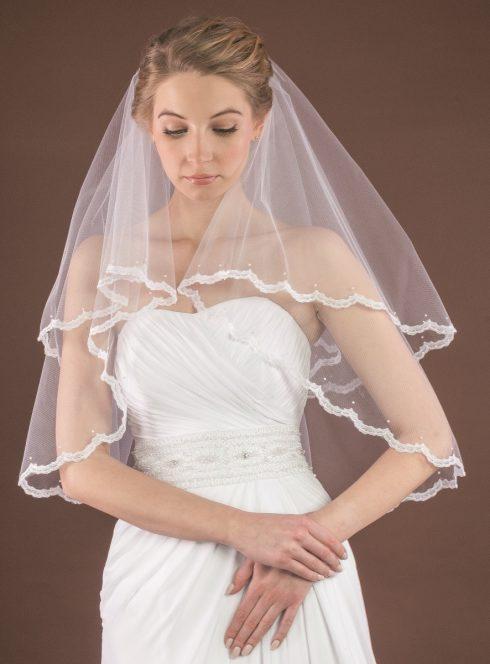 Voile de mariée niveau coude
