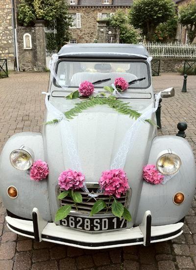 Voiture de mariés