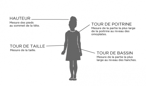 Aide mesure taille robe cérémonie