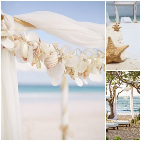 arche mariage bord de mer