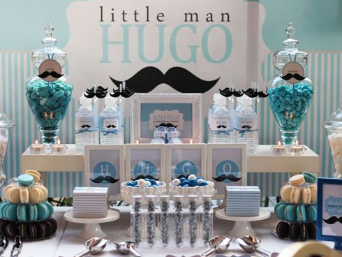 baby shower moustache