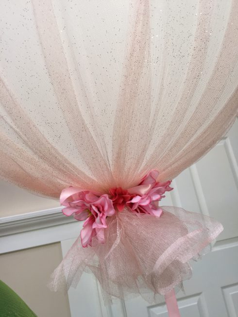 ballon fleurs