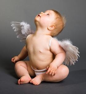 Faire part de baptême bébé sur le thème ange