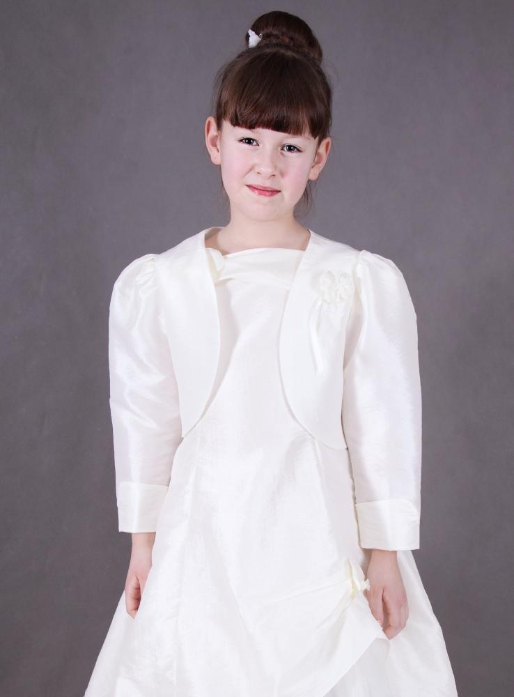 bolro gilet veste de crmonie fille blanc - Bolero Fillette Pour Mariage