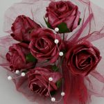 bouquet artificiel boutique magique rouge