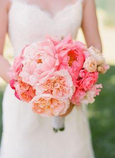 bouquet camaieu de rose mariage