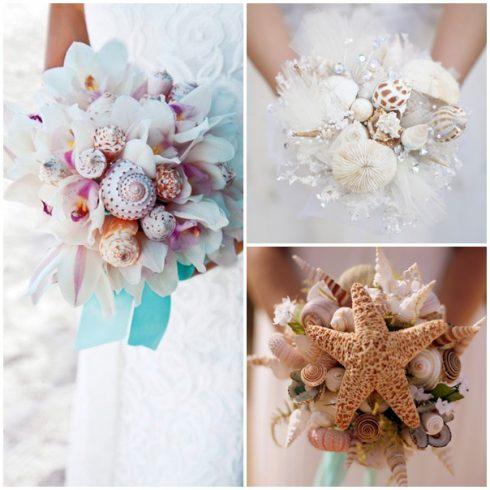 bouquet de mariée mariage bord de mer