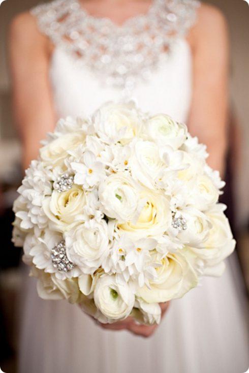 bouquet de mariée perles