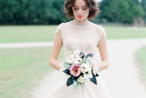 bouquet de mariée rose blanc