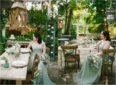 bouquet de mariée vert décoration maraige vert