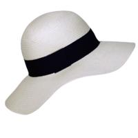 chapeau capeline blanche