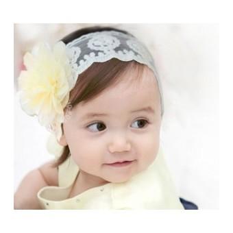 coiffure bandeau fleurs bapteme bébé