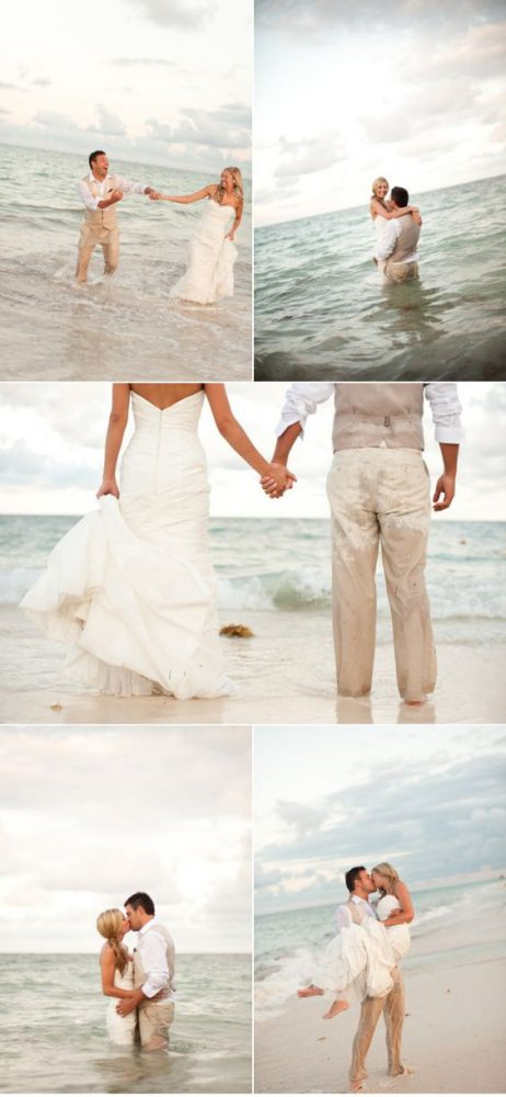 couple trash the dress plage plusieurs