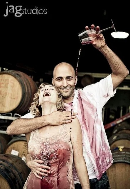 couple trash the dress vin