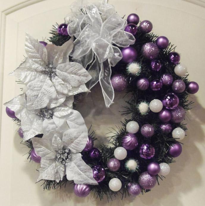 Déco de table pour Noel violet, décor de Noël | Blog Boutique-Magique