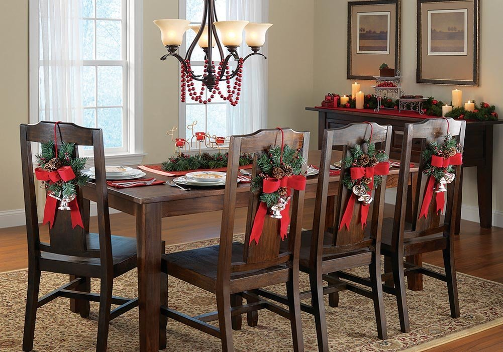 bricolage de no l d co de table par l habillage de vos chaises blog boutique magique. Black Bedroom Furniture Sets. Home Design Ideas