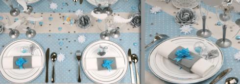 décoration communion garçon bleu clair