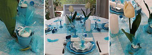 décoration communion garçon bleu et blanc