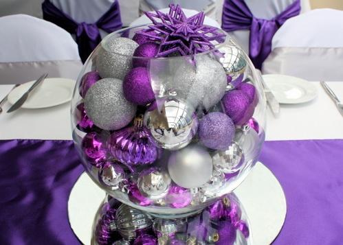 d co de table pour noel violet d cor de no l blog boutique magique. Black Bedroom Furniture Sets. Home Design Ideas