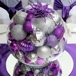 Post image for Une décoration de Noël violette