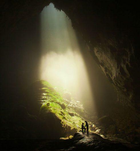 demande en mariage grotte
