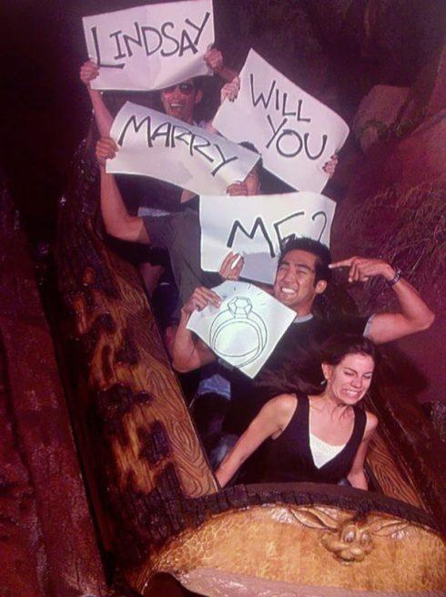 demande en mariage parc d'attraction