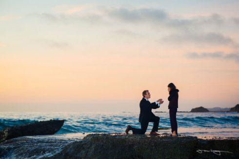 demande en mariage plage