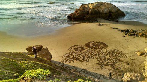 demande en mariage plage sable