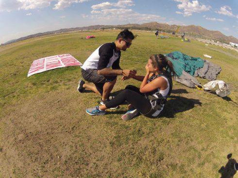 demande en mariage saut parachute