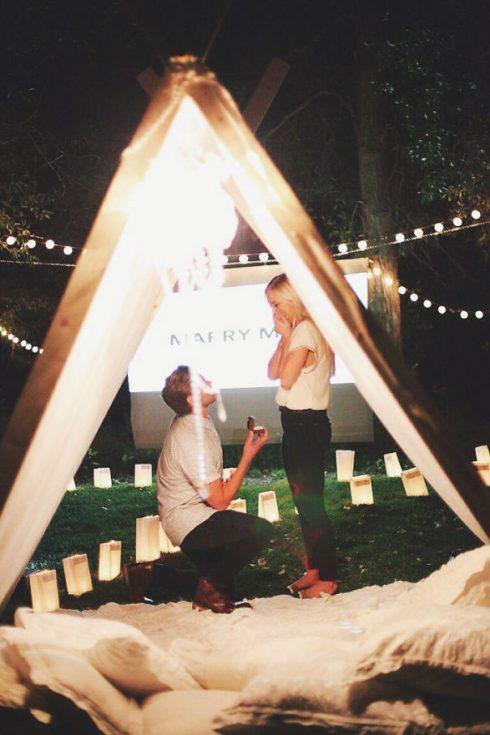 demande en mariage tipis