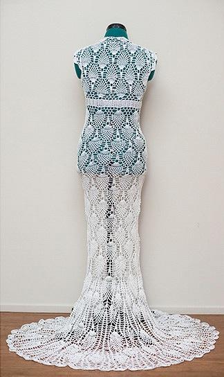 derrière robe de mariée au crochet