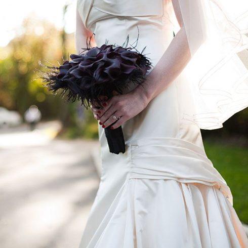 bouquet de mariée halloween