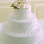 gâteau mariage  blanc